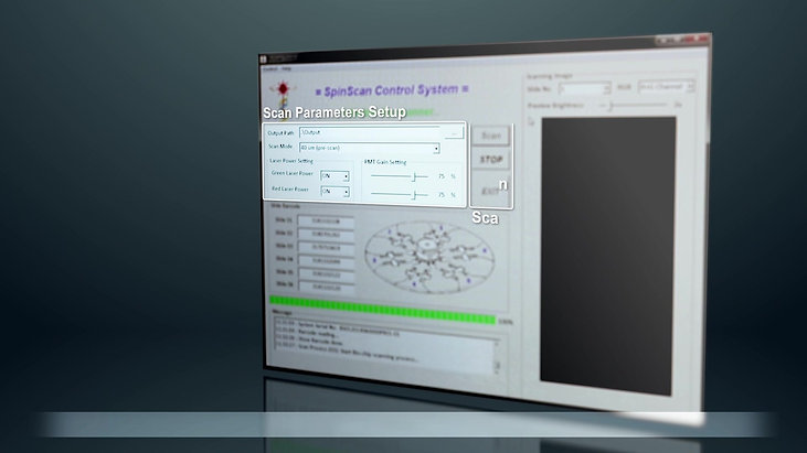SpinScan Microarray Scanner