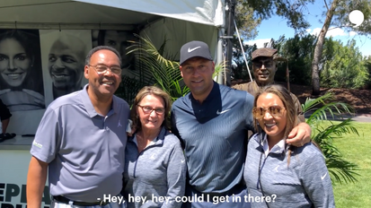 Derek Jeter's Golf  Tournament had a hilarious living statue