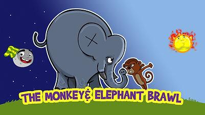 The monkey and elephant brawl