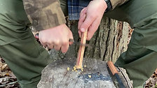 20. Fire Starting using Fatwood
