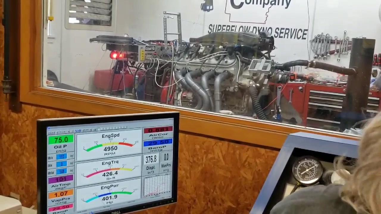 X1 Intake Manifold Engine Dyno Run