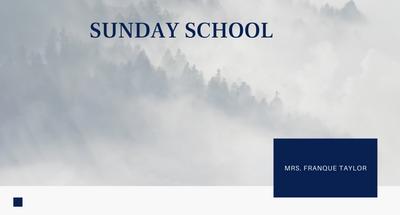 Sunday School: Love Never Fails 1...