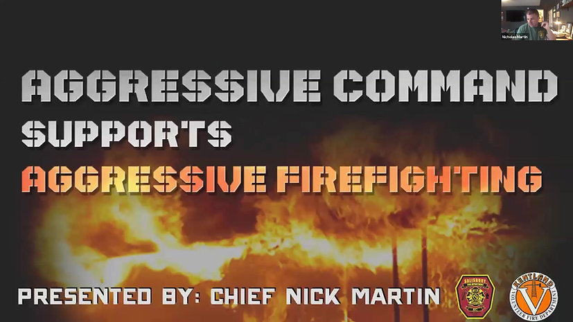 Aggressive Command Supports Aggressive Firefighting- 2.5hr On Demand