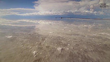 ウユニ塩湖ドローン撮影