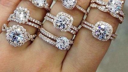 All styles of wedding rings at R.W. Diamond Broker in Dallas