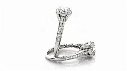 Stunning Halo Rings at R.W. Diamond Broker