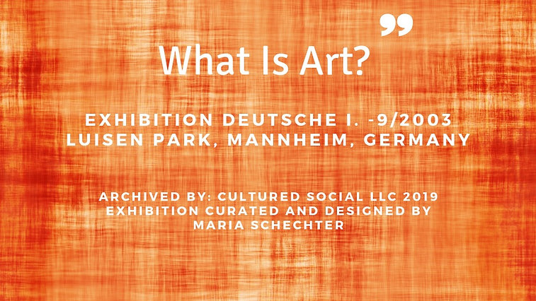 What Is Art? - What Is Sound? Germany Exhibition