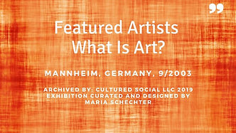 WhatIsArt-WhatIsSound exhibiting artists with the Germany exhibition.