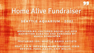 Home Alive Fundraiser Seattle Aquarium: Curated 120 Seattle based Artists