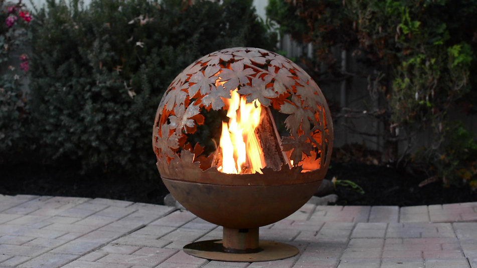 Extra Large Wildlife Fire Globe