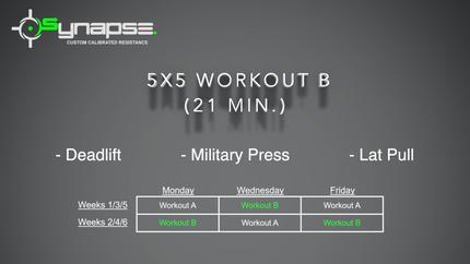5 x 5 Workout B