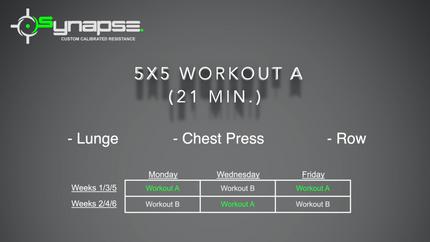 5 x 5 Workout A