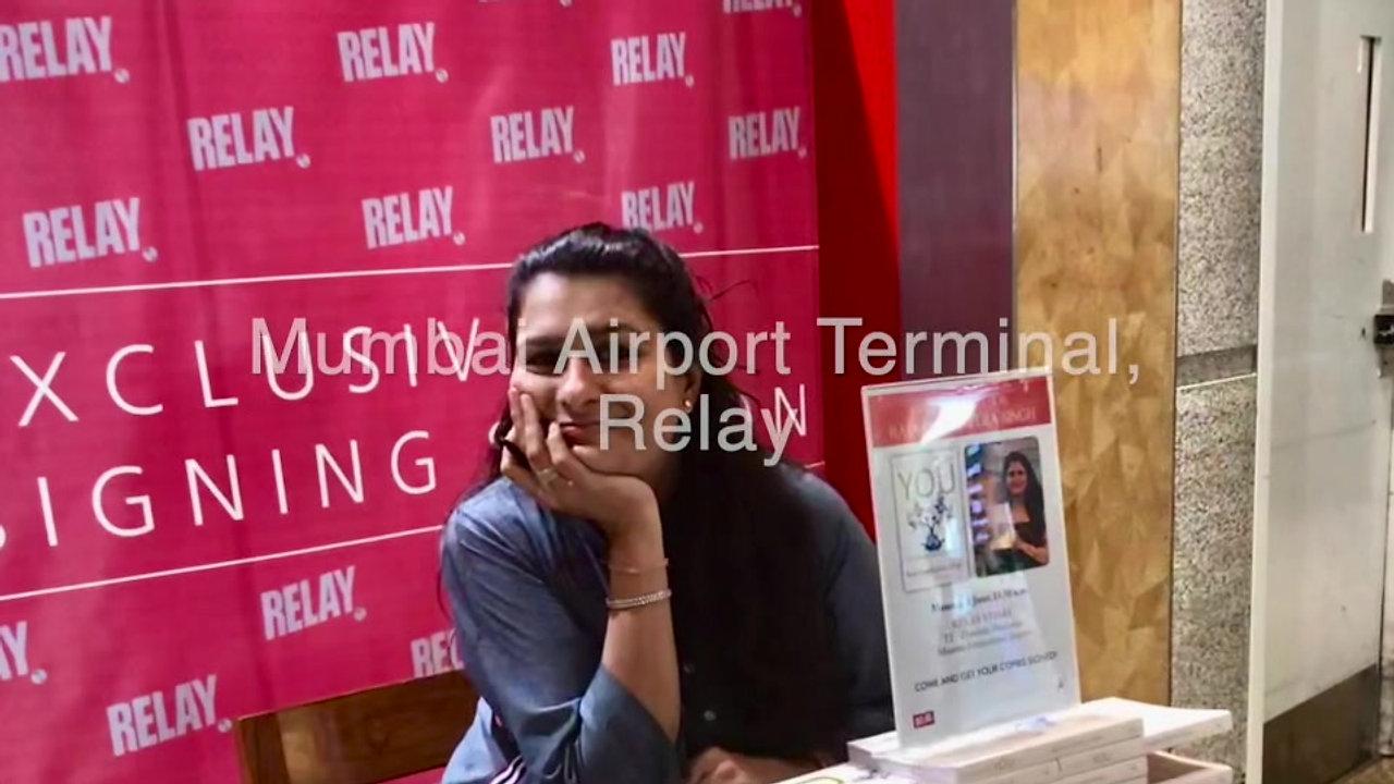 Book Signing - Mumbai Airport Terminal