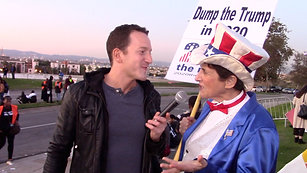 Talking Politics (Sort Of) Outside the Democratic Debate in Los Angeles