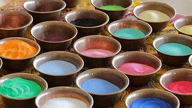Buddhist Monks Create Intricate Sand Mandala