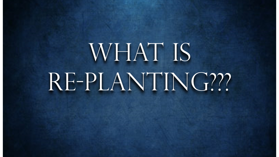 What is re-planting and why would you do it?