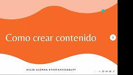 ¿Cómo crear contenido?