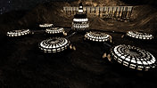 2 Million Year old Moon Base :Production Design Sketch from Mission Moon Craft