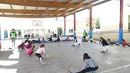 Demostració kung fu escolar