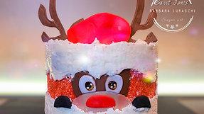 Christmas reindeer fault line cake