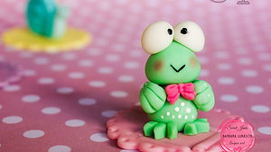 Cute cupcakes toppers - the frog