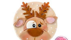 Christmas cupcakes toppers Reindeer 2/6
