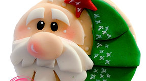 Santa cupcake topper