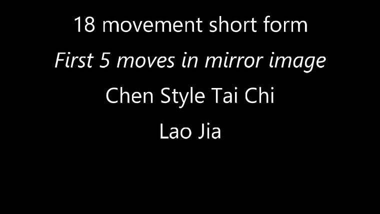 Tai Chi Short Form - Chen style 18 movement
