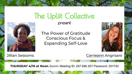 Uplift Collective- The Power of Gratitude- Carrieann Angrisani &Jillian Sessoms