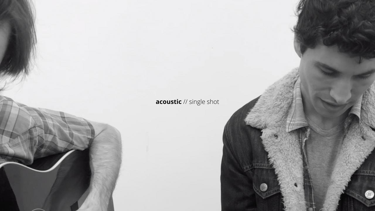 acoustic // single shot