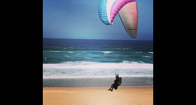 Sea Paradise - Paragliding on Wilderness Beach_Large