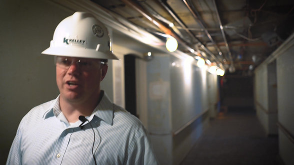 Mini-doc of construction company working on hotel renovation