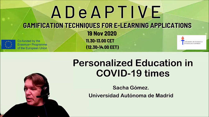 ME2 Gamification- Personalised Education in COVID 19 time by Sacha Gomez