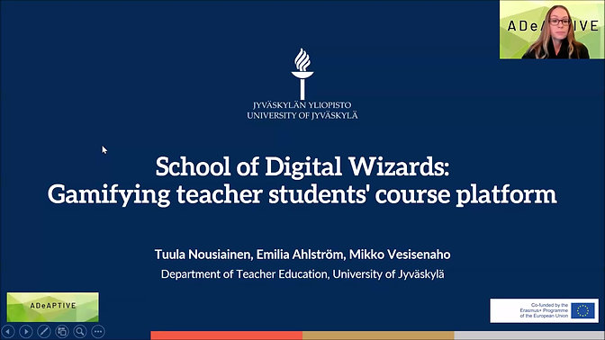 ME2 Gamifying teachers students' course platform by Tuula Nousiainen and Emilia Ahlostrom