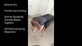 Exercises for the Upper Back & Shoulder Blades (prone)