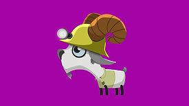 Goat idle