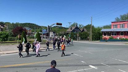 Manifestation à Vallée-Jonction