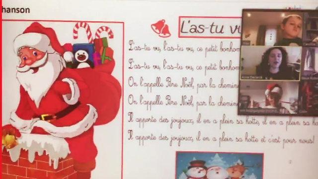 Le spectacle de Noël en ligne de l'école du samedi FLAM Et Patati Patata. Bravo les enfants !