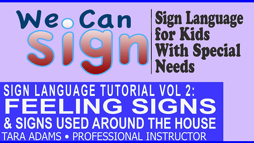 We Can Sign Vol 2 Feeling Signs and Signs Used Around The House