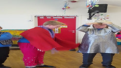 Dancing while dressing up in Indian outfits