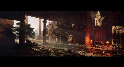 Previz - Egypt Templ - Unreal Engine 5