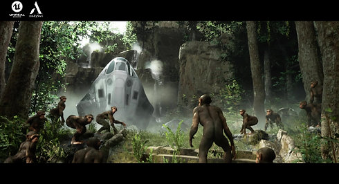 Previz - Monkey Spaceship - Unreal Engine