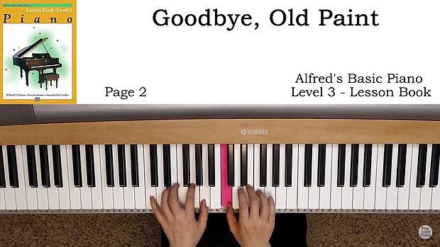 GOODBYE OLD PAINT 86 BPM