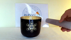 Taça 528Hz Cubo de Metatron / Crystal Singing bowl 528Hz Metatron's Cube