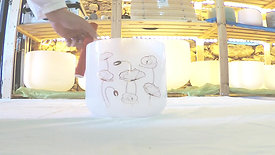 Taça Alquímica Opala Sol (192Hz @ 432Hz) / Alchemic White Opal Crystal Bowl G (192Hz @ 432Hz)