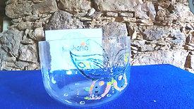 Taça Cristalina com Borboleta Dó# (283Hz) / Crystal Clear Crystal Singing Bowl with Butterfly C# (283Hz)