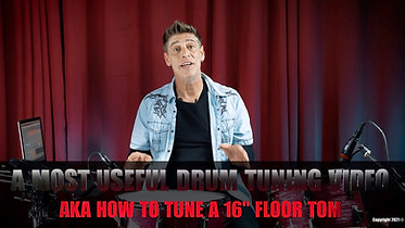 """How To Tune a 16"""" Floor Tom from Scratch"""