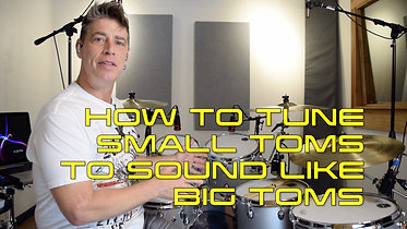 HOW TO TUNE SMALL TOMS TO SOUND LIKE BIG TOMS AT 2 DIFFERENT TUNING INTERVALS V2 WIX