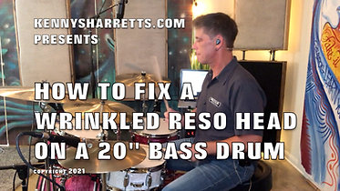 HOW TO FIX A WRINKLED RESO HEAD ON A BASS DRUM Wix