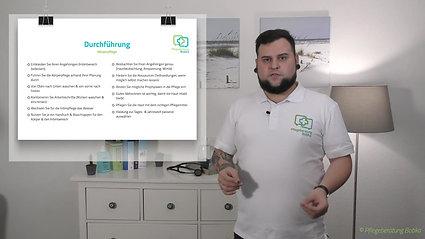 Durchführung und Nachbereitung einer Körperpflege